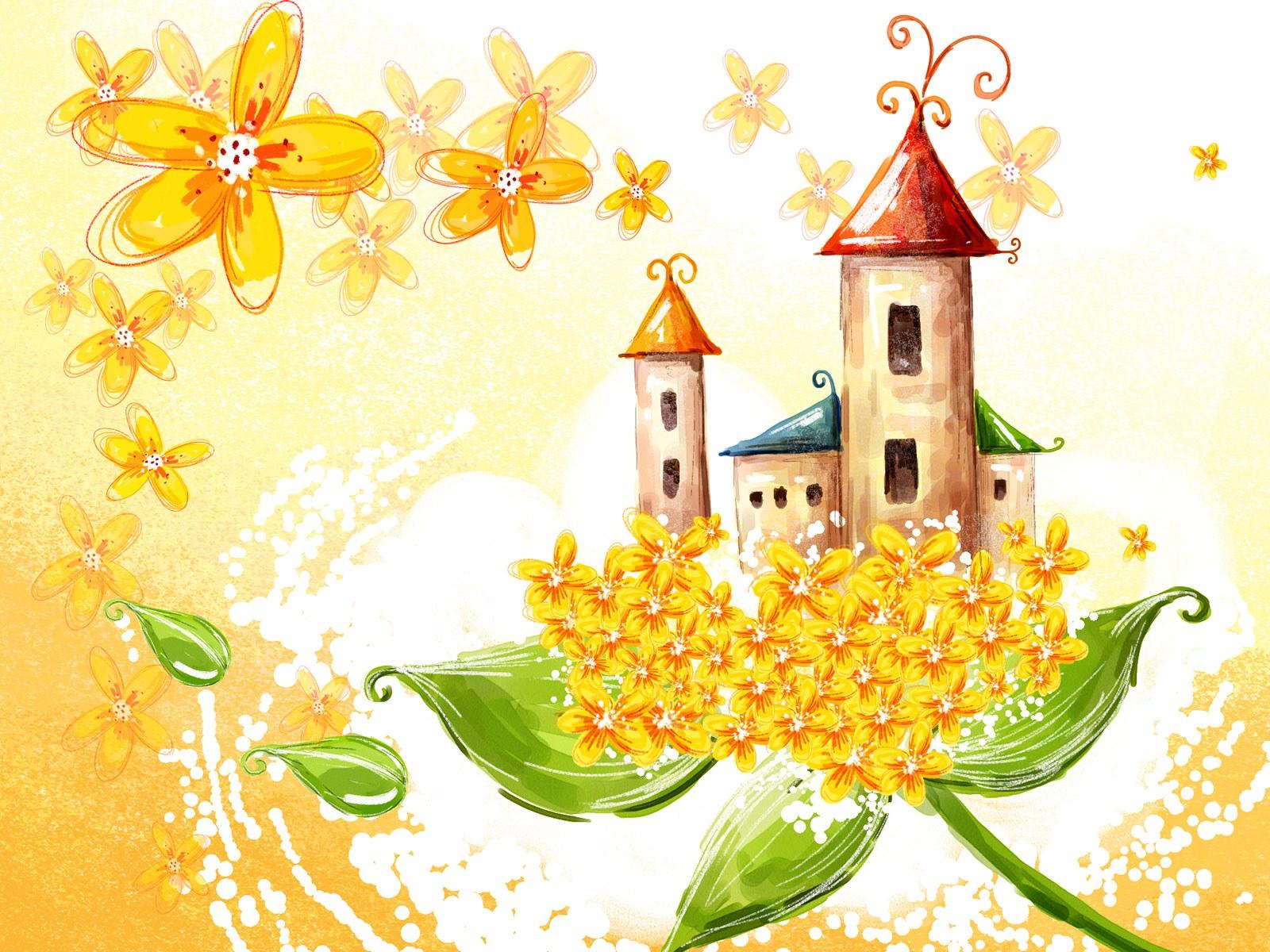 Волшебные цветы рисунки 6